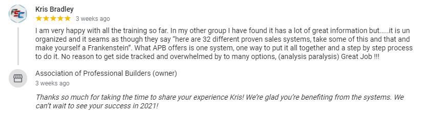 Kris Google Review
